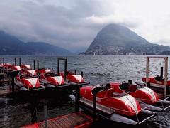 Catamarans on lake Lugano (Cristina Rhode) Tags: lake nature water schweiz switzerland suisse svizzera lugano mountans