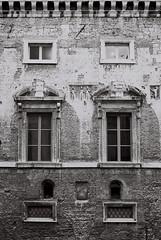 verticality (simoncini.nicola) Tags: windows bw white black building architecture 50mm mood moody kodak symmetry iso explore 400 symmetric symmetrical hp5 f2 palazzo ilford marche xenon degli schneider retina verticality ancona kreuznach anziani baw iiic