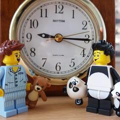 TGIF~ A~  (http://MiniPlayHouse.com) #lego #minifigures #sleepyhead #pandasuit #pandasuitguy #happyfriday (dadawudawu) Tags: lego sleepyhead minifigures happyfriday pandasuit pandasuitguy