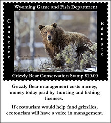 Grizzly Bear Conservaton Stamp Idea (Daryl L. Hunter - Hole Picture Photo Safaris) Tags: idea wildlife solutions habitat recovery endangeredspecies grizzlybear funding environmnetal wyominggameandfish grizzlybearconservationstamp