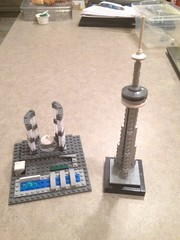Toronto Icons in Bricks (Stephen Gardiner) Tags: toronto ontario apple cntower lego cityhall bricks iphone 2016 newcityhall iphone5