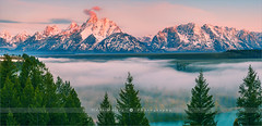 Snake River Overlook - Grand Teton N.P - Wyoming (~ Floydian ~ ) Tags: morning trees usa cloud mountain snow mountains tree fog clouds sunrise canon river landscape photography dawn landscapes nationalpark spring mood unitedstates snake valley wyoming tetons overlook grandteton jacksonhole springtime snowpeaks snakeriveroverlook floydian canoneos1dsmarkiii henkmeijer