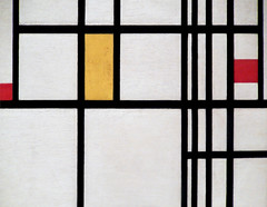Mondrian at MoMA (Clara Ungaretti) Tags: nyc red inspiration ny abstract color art colors yellow museum modern colorful artist museu arte manhattan modernart moma museumofmodernart colored mondrian primarycolors colorido pietmondrian