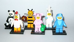 lego minifigures panda guy chicken suit guy bumblebee girl piggy guy unicorn girl shark suit guy various series 2013 2014 2015 2016 (tjparkside) Tags: 3 guy chicken girl animal movie piggy shark panda lego 10 14 7 9 15 mini bumblebee suit figure series sharks 12 various 13 unicorn figures thirteen fifteen minifigure 2014 2016 2015 minifigures 2013 71000 71001 71007 71008 71011 tlm015