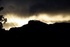 (Giramund) Tags: sunset sky italy mountain tree bird clouds dark capri evening