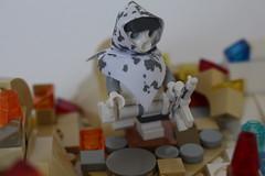 Wolf_1 (TH3_J03Y_G) Tags: shadow snow ice fire wolf desert lego camo hood custom wanderer minifigure apoc moc postapocalyptic