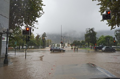 Rain at Santiago de Chile