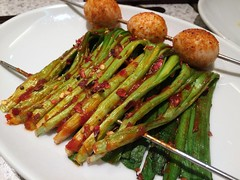 Leek and small eggs skewers from Kokyo Aji @ Ueno (Fuyuhiko) Tags: from cuisine tokyo ueno   leek aji kokyo skewers   chinense