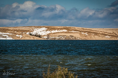 Chocolate dunes with frosting on top . . . (Dr. Farnsworth) Tags: blue snow water clouds mi spring sand chocolate dunes ngc lakemichigan westlake silverlake frosting nationalgeographic april2016