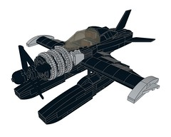 D4DRazortail002 (Dragonov Brick Works) Tags: lego aircraft snot ldraw studless miniscale