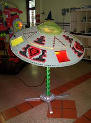 OH Bellaire - Toy & Plastic Brick Museum 53 (scottamus) Tags: ohio sculpture statue lego display alien roadside flyingsaucer bellaire attraction belmontcounty toyplasticbrickmuseum