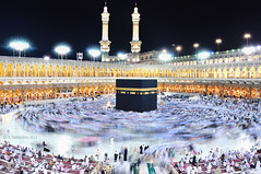 Holly Kaaba (A. Shamandour) Tags: light sky color colour night skyscape mix muslim islam prayer pray mosque holly round saudi arabia syria mixing scape damascus mecca makkah makka kaaba shuterspeed colourmix islammuslim manaret shamandour