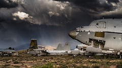 Boneyard - Number 2. (Images by William Dore) Tags: arizona usa storm southwest weather airplane landscape outside outdoors nikon desert tucson aircraft planes thunderstorm d810 nikond810 arizonapassages