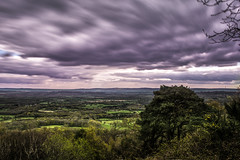 South Downs Over Time (MDM-photography) Tags: uk longexposure england sky blur green nature clouds skyscape landscape nationalpark europe view purple vibrant dramatic atmosphere wideangle vista southdowns