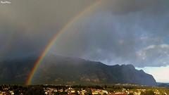 Arco iris sobre Collbat (Maria J. Muoz) Tags: mountain rain arcoiris montagne lluvia rainbow pluie samsung galaxy catalunya catalua muntanya arcenciel s6 pluja baixllobregat arcdesantmart collbat muntanyademontserrat