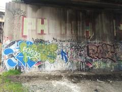 IMG_2120 (Hypurban) Tags: nyc newyork graffiti newjersey jerseycity traintracks jersey nycgraffiti urbex traintunnel underfreeway nygraffiti nygraff graffitiyards nycgraff