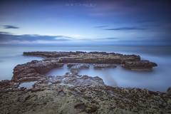 Punta dels banyets de la reina... (www.lanternman.es) Tags: espaa costa mar agua alicante campello rocas mediterrneo largaexposicin filtros espigon