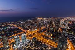 Blue hour at Burj Khalifa (cls-70) Tags: city skyline dubai cityscape dusk bluehour stad skymning atthetop blåtimmen burjkhalifa
