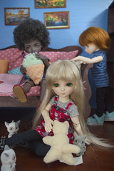 kitties (Catfishy2u) Tags: ball doll mango raspberry bjd jointed amond dollsbe