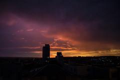 Color full Sunset (Leandro Budzinski) Tags: sunset sky orange color sol beauty colo lens nikon do purple good colorfull kit vibes por beautifull belo colorido d3200