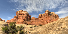 Hike from Squaw Flats campground NP_Panorama5 (maryannenelson) Tags: panorama clouds landscape utah nationalpark spring hiking canyonlands needles squawflats