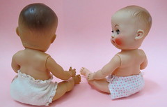 3. Clean and Dry (Foxy Belle) Tags: pink baby girl vintage doll small rubber diaper collection vogue clone ginette