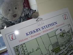 YOU ARE HERE (pefkosmad) Tags: bear uk railroad travel vacation england holiday ted station train toy stuffed soft teddy fluffy railway plush cumbria kirkbystephen settletocarlisle tedricstudmuffin