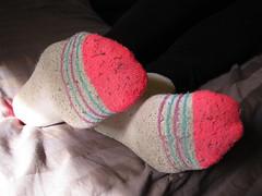 White and Pink Socks (sockstargirl) Tags: feet socks footfetish sexyfeet femalefeet sexysocks sockfetish
