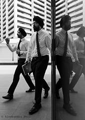 Singapore (ale neri) Tags: street people blackandwhite bw reflection mirror singapore indian streetphotography aleneri alessandroneri