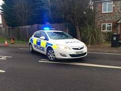 Herts Police Vauxhall Astra (slinkierbus268) Tags: rear reds hertfordshire vauxhall bluelights herts vauxhallastra hertfordshireconstabulary hertfordshirepolice