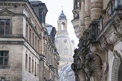 Frauenkirche (Aus Sicht des Georgentor) (explored) (ralfkai41) Tags: city architecture buildings dresden kirche architektur historical frauenkirche gebude historisch georgentor