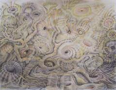 Tree with ethereal flowers (Jos van Wunnik) Tags: tree art drawing ethereal tekeningen josvanwunnik imaginativelandscape