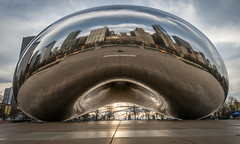 Cloud Gate Sunrise (HubbleColor {Zolt}) Tags: travel urban chicago us illinois unitedstates bean millenniumpark cloudgate