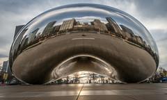 Cloud Gate Sunrise (HubbleColor {Zolt}) Tags: travel urban chicago us illinois unitedstates bean millenniumpark cloudgate