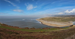 Ogmore Beach - Sea Fog (Andy.Gocher) Tags: uk sea sky panorama beach southwales wales clouds europe ogmore panarama ogmorebysea panoramapanoramic canon100d andygocher