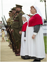 Happy to serve (Jerome Cornick) Tags: soldier army uniform australia perth nurse ww1 kingspark sunsetservice fromelles