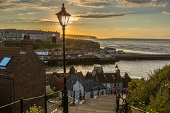 Whitby (kevaruka) Tags: uk sunset sea england cloud sun holiday color colour english classic colors sunshine clouds composition digital canon landscape outdoors eos seaside twilight flickr day colours dof cloudy britain outdoor dusk yorkshire united great north stock scenic july kingdom sunny resort whitby gb mk2 5d depth f28 ef 1635 mk3 2015 5d3 5diii thephotographyblog ilobsterit