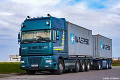 DAF XF95 SSC (Micha Szczerbowski) Tags: truck transport ssc pak spj daf pusher przyczepa kontener klimowicz xf95 wsplnicy