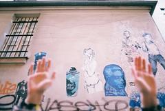 (Kevin Orbitz) Tags: streetart film up wall analog 35mm photography hands nikon ishootfilm 35mmfilm analogue analogphotography wallpaint 35mmphotography nikonfe2 filmphotography colorfilm filmroll filmisnotdead agfa400 agfafilm analoguephotography westillshootfilm