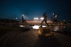 Opening Night (ben_leash (Gone in May)) Tags: sanfrancisco california sports silhouette night lights bay nikon nightlights baseball stadium d750 giants sanfranciscobay sanfranciscogiants giantsbaseball attpark