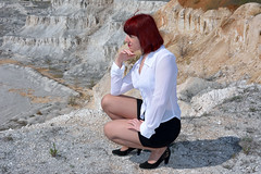 DCS_9798 (dmitriy1968) Tags: portrait cliff nature girl beautiful erotic outdoor wife quarry    sexsual