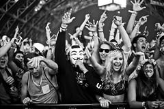 Coachella (Thomas Hawk) Tags: california bw usa unitedstates mask unitedstatesofamerica guyfawkes livemusic coachella anonymous indio fav10 coachella2013 jbltakescoachella