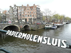 Papiermolensluis - Amsterdam. ( Explore 27-04-16 ) (Flyingpast) Tags: city bridge vacation holiday holland building water netherlands beautiful amsterdam architecture boat canal spring europe pretty scenic houseboat papermill brouwersgracht capitalcity citybreak wb2000 tl350