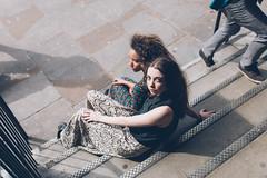 shoreditch (Lydia Trappenberg) Tags: street city girls friends london love fashion youth stairs friendship steps shoreditch editorial runaway girlfriends runaways