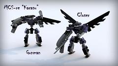 "MCS-re ""Karasu"" Gunners (phayze81) Tags: lego frame scifi mf sciencefiction mcs mecha mech moc ldd mfz mobileframe legorender mf0 mobileframezero mobilecore bluerender mobilecoresystem"