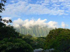 Kaneohe Hawaii (ataxiagallery) Tags: travel mountains nature clouds outdoors island hawaii oahu kaneohe tropical mountainridge