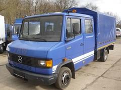 MB 508D (Vehicle Tim) Tags: rescue truck mercedes blau rettung mb thw transporter einsatz blaulicht pritsche