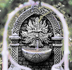 Happy May Day (iofdi) Tags: fountain miniature arch celtic resin mayday greenman beltane hss
