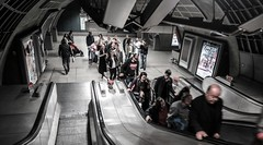 London Bridge Underground (Kenco2o11) Tags: street city bridge red people bus london train underground cross transport tube kings wembley bakerloo