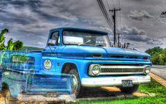 1960 C10 Shortbed Stepside Pickup (creepingvinesimages - struggling to keep up!) Tags: chevrolet truck advertising outdoors virginia nikon pickup charlottesville autofocus htt stepside c10 photomatix d7000 pse14